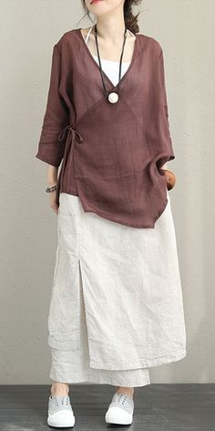 Vintage Casual Linen Shirt Women Tops For Fall - Vintage Casual Linen Shi. Vintage Casual Linen Shirt Women Tops For Fall – Vintage Casual Linen Shirt Women Tops For Business Casual Womens Fashion, Tall Women Fashion, Jogging Outfit Women, Fashion Mode, Fashion Outfits, Diy Fashion, Fashion Spring, Woman Fashion, Plad Outfits