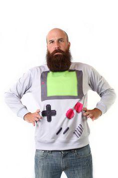 Handheld Sweatshirt Nintendo Gameboy. WANT!