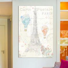 "Viv + Rae Lighthearted in Paris III Canvas Art Size: 18"" H x 12"" W x 0.75"" D"