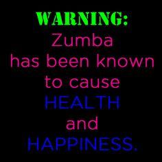 Zumba warning!