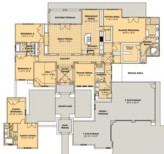 Modern style house plan 2 beds 2 baths 960 sq ft plan for 28x32 floor plan