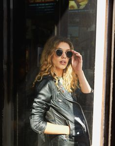 Urban Renewal #retoucher #photoshop #photoshoot #photography #urbanoutfitters #fashion #editorial #model #cute #summer #renewal #chill #relax #streetstyle #wavy #hair #sunglasses #leather #jacket