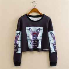 9cb9fb8820 New Fashion Women Long Sleeve Cropped Top Sweatshirts Short Autumn Tops  Women Pullovers Clothes Hot M