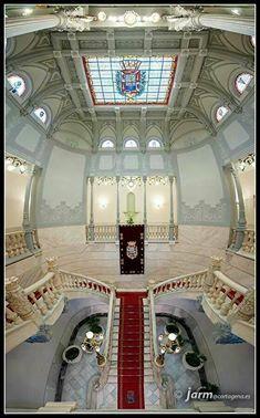 Escalinata Ayuntamiento Cartagena. Murcia. Spain