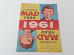 Vintage Mad Magazine No. 61 March 1961 It's Gonna Be a MAD Year 1961