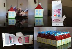 Mini peppa houses for the favor boxes? Invitacion Peppa Pig, Cumple Peppa Pig, Party Invitations, Party Favors, Invites, Pig Party, 4th Birthday Parties, Baileys, Favor Bags
