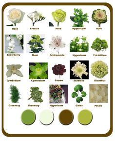 Summer Wedding Flowers – Green, White and Brown Color Scheme