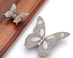Antique Butterfly Cupboard Door Knobs And Handles Kitchen Cabinet ...