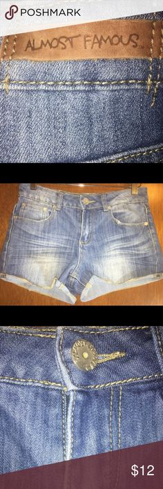 Almost Famous Denim blue jeans Size 7 Very cute Denim blue jean shorts by Almost Famous... Size 7 Almost Famous Shorts Jean Shorts