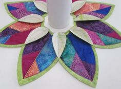 Fold N Stitch Wreath & Leaf Topper Pattern Combo by Poor House Quilt Designs - Quilt in a Day Patterns