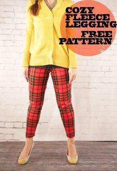Holiday Tartan: Cozy Fleece Leggings Free Pattern