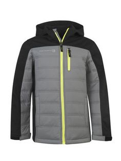 Boys will be boys, so make sure yours is dressed for any outdoor occasion in our Citrus Softshell-Quilted Hybrid Jacket. He'll love the neon zippers, and you'll love the water and wind-resistant features.