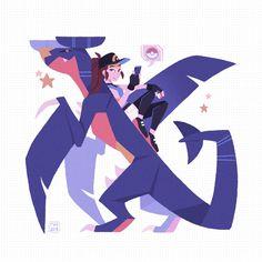 On that Gen 4 hype! Also just felt like drawing something for myself for once … On that Gen 4 hype! Also just felt like drawing something for myself for once ⭐️ // Pokemon Go, Pokemon Memes, Cute Pokemon, Pokemon Stuff, Rebecca Chan, Character Art, Character Design, Original Pokemon, Digimon
