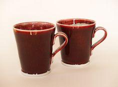 Ceramics by John Masterton at Studiopottery.co.uk - 2010. Red Mugs