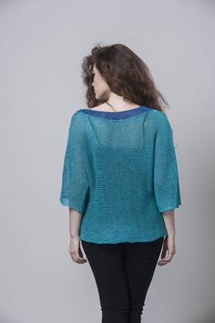 Knit Sweater Blue Knit Summer Knit Fashion Knit Spring