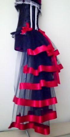 Burlesque Moulin Rouge Bustle Belt Tutu Skirt XS S.M.L XL Sexy Steampunk Goth | eBay