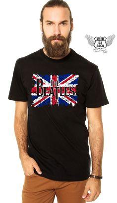 660a18ba79b72 ... Camisetas de Bandas de ROCK · The Beatles Flag é na  www.rotadorock.com.br camiseta em algodão