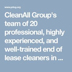 CleanAll Group's team of 20 professional, highly experienced, and well-trained end of lease cleaners in Sydney can help you get your lease bond back with their excellent cleaning services. Cleaning Services, Sydney, Bond, Housekeeping, Maid Services