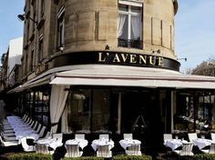 L'Avenue, Paris. One of the best restaurants in Paris. Probably the best 'sole' you will ever eat.