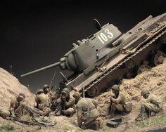 """Gully in Don Steppe"" 1/35 scale. TRUMPETER KV-1. By Alexander Zelenkov. #diorama  #WW2 #tank"