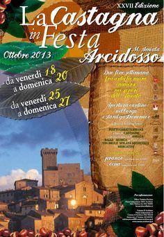 Festa della #Castagna ad #Arcidosso ecco il programma #Maremmans