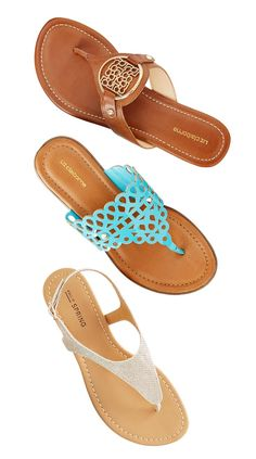 Kick back and relax sandals to match every sunny day outfit.