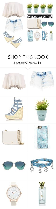 """""""Untitled #40"""" by cyellaboran ❤ liked on Polyvore featuring Boohoo, River Island, New Look, Tory Burch, Casetify, Tiffany & Co., Bling Jewelry, Topshop and Bulgari"""