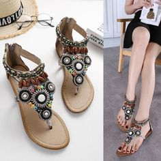 Brand Name: Beeegoods Heel Type: Low Heel Style: Casual Occasion: Beach,Casual,Daily Season: Spring,Summer Gender: Women Color: Black,Beige Size: Flat Sandals, Flats, Beach Casual, Low Heels, Beige, Woman, Shoes, Style, Fashion