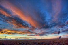 Sunset near Roggen, CO