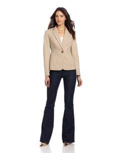 Jones New York Women's Notch Collar Jacket With Triple Waist Seam $109.99 (save $39.01) + Free Shipping