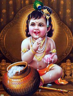 Latest HD Lord Krishna Images for Radha Krishna Wallpaper Lovers Baby Krishna, Little Krishna, Krishna Hindu, Cute Krishna, Lord Krishna Images, Radha Krishna Pictures, Hindu Deities, Sri Krishna Photos, Yashoda Krishna