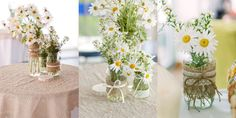 burlap wedding ideas | is perfect for an outdoor country wedding! They used simple burlap ...
