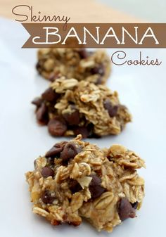 Skinny Banana Cookies | They only require 3 ingredients and they are much healthier than other cookies..
