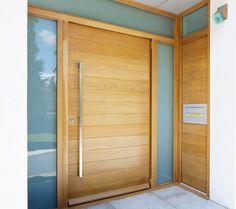 Oasis - Modern Mahogany Wood Entry Solid Door Lux Garage Doors - June 22 2019 at Garage Door Design, Front Door Design, Garage Doors, Closet Doors, Contemporary Front Doors, Modern Front Door, Front Entry, Modern Contemporary, Wood Entry Doors
