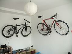Stacking leaning garage bike rack small apartments storage ideas great diy bike storage for the 50s schwinns cluttering our billiard solutioingenieria Image collections