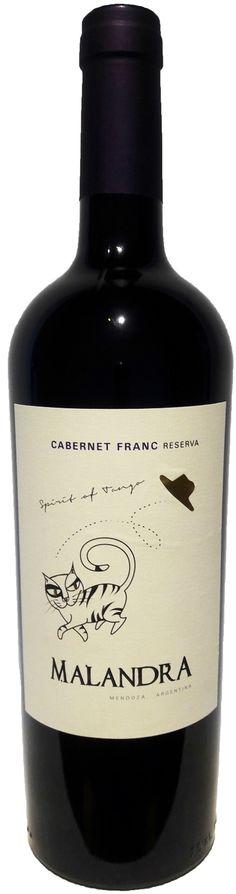 """""""Malandra Reserva"""" Cabernet Franc 2013 - Malandra Wines, Mendoza-------------------------Terroir: La Consulta (San Carlos)-----------------Crianza: 12 meses en roble francés"""