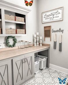 """10 Best Living Rooms By Joanna Gaines from Fixer Upper - Nikki's Plate Laundry Co. Wood Sign 13x32"""" - Farmhouse - Modern - Home Decor - Joanna Gaines - Farmhouse Style - Laundry Room<br> Farmhouse Laundry Room, Farmhouse Bedroom Decor, Country Farmhouse Decor, Modern Farmhouse Kitchens, Farmhouse Kitchen Decor, Farmhouse Design, Home Decor Kitchen, Diy Home Decor, Farmhouse Style"""