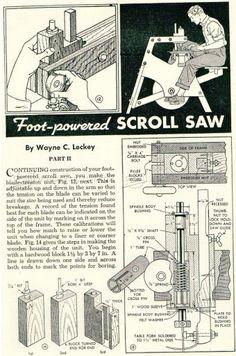 #2475 Foot Treadle Scroll Saw Plan - Scroll Saw