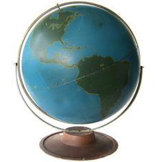 Industrial Educational Metal Globe