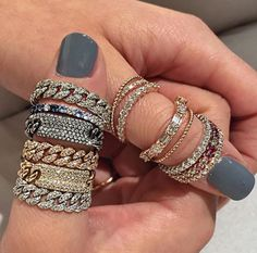 I love this super cute ring stack. SymoneRenée