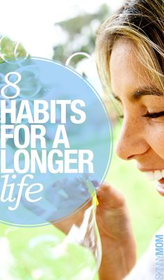 8 Healthy Habits For A Longer Life Health Facts, Health And Nutrition, Health And Wellness, Health Tips, Health Fitness, Fitness Tips, Ways To Eat Healthy, Healthy Habits, Healthy Choices