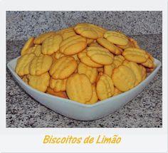 Iguarias de Açúcar e Sal: Biscoitos de Limão
