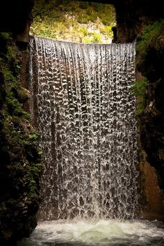 Waterfall of Lake Emerald, Trentino-Alto Adige, Italy by mauropaolocascasi on Flickr.