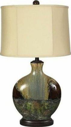 Kindle Crackled Ceramic Table Lamp