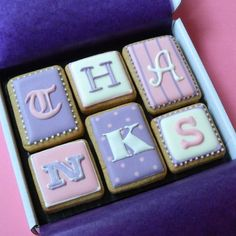 T-H-A-N-K-S cookie box Thank You gift