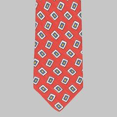 The new Drake's collection comprises of a wide array of thoughtful, lively, refreshing designs, featuring archival patterns alongside new ones. This silk/linen quality has everything that makes a great tie for the warmer months. Summer Suits, Tie Colors, British Style, Drake, Silk, Patterns, Prints, Red