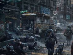 Image result for post apocalyptic art