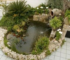 make it a complete heart shaped pond. Then, add plants with heart shaped leaves. A pond supplies an exciting addition to any garden, even just a small one. A pond isn't something which is simple to move if, in a couple of years, you don't like its loc Outdoor Ponds, Ponds Backyard, Outdoor Gardens, Pond Design, Garden Design, Ponds For Small Gardens, Diy Pond, Garden Waterfall, Pond Landscaping