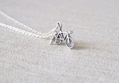 Bicycle Necklace. Silver Bicycle Necklace. by AnyaCloudJewellery, $15.00