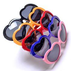 2eba26f38e66 Popular Cute Color Glasses Girl Love Heart Shape Unique Sunglasses Stylish   8529  unbranded Cute